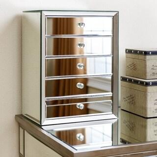 Omni Mirrored 5-drawer Jewelry Box By Abbyson