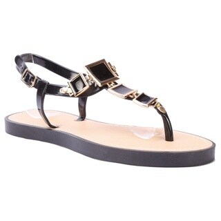 Coshare Forever Women's Evita-84 Metal Embellished Flat Sandals