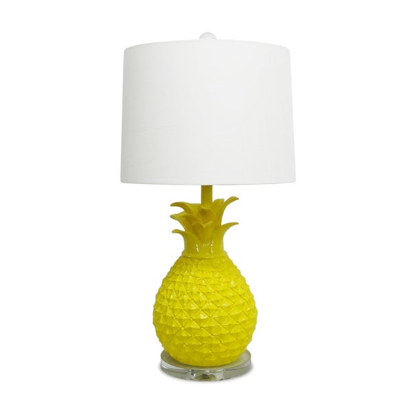 Porcelain table lamps - Yellow Pineapple Table Lamp 17275102 Overstock Com