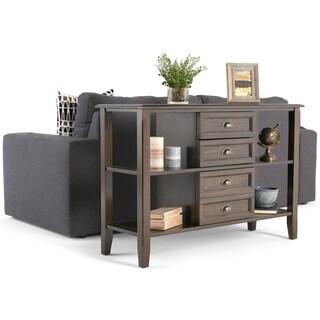 WYNDENHALL Portland Console/Sofa Table - Espresso Brown