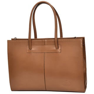 SHARO Cafe Ole Italian Leather 16-inch Laptop Tote Bag