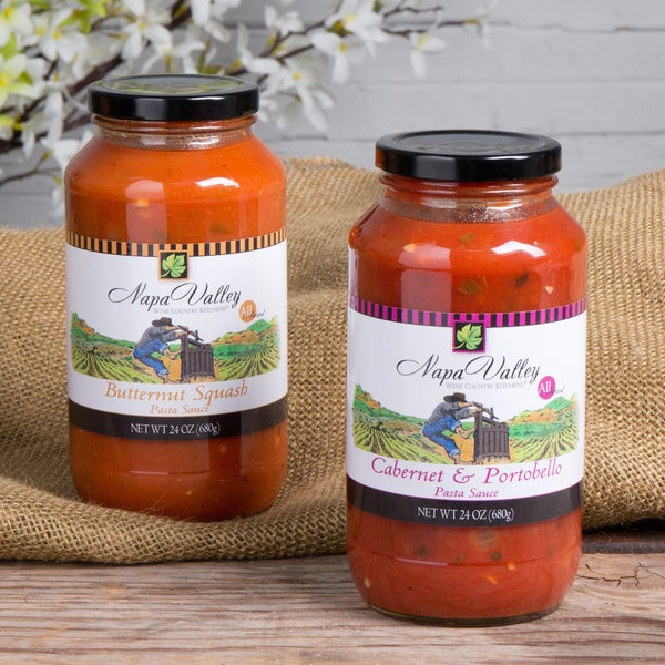 Wine Country Kitchen Vegetable Pasta Sauce Sampler (Set of 2)