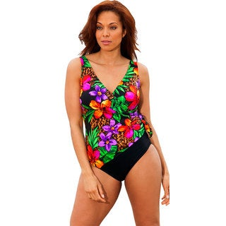Longitude Women's Sanctuary Side Tie Surplice Swimsuit