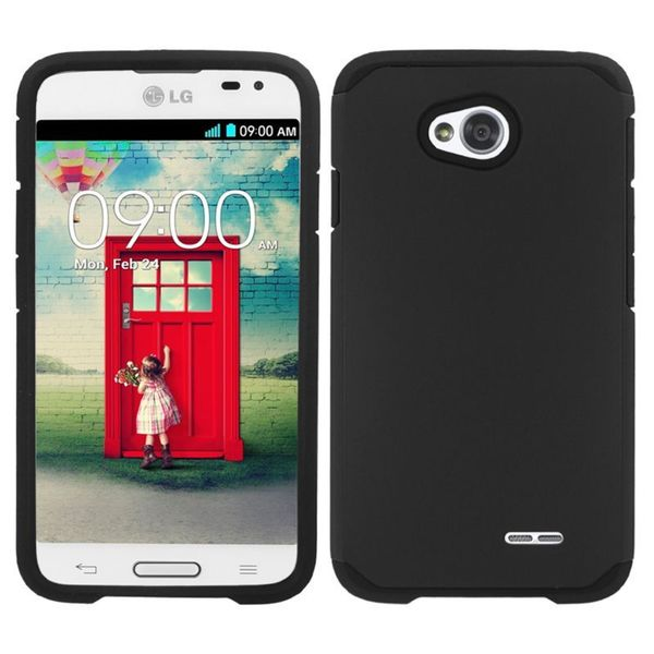 Insten Hard PC/ Silicone Hybrid Phone Case Cover For LG Optimus Exceed 2 VS450PP Verizon/ Optimus L70 / Realm/ Ultimate 2