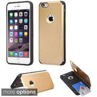Insten Hard Snap-on Rubberized Matte Phone Case Cover with Card Slot For Apple iPhone 6 Plus