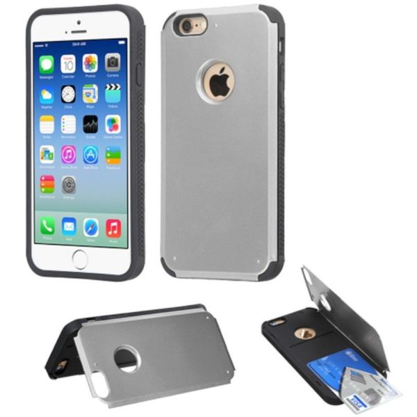 Insten Hard Snap-on Rubberized Matte Phone Case Cover with Card Slot For Apple iPhone 6