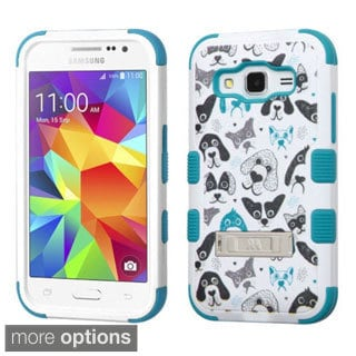 Insten Design Pattern Tuff Hard PC/ Silicone Dual Layer Hybrid Phone Case Cover with Stand For Samsung Galaxy Core Prime