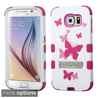 Insten Design Pattern Tuff Hard PC/ Silicone Dual Layer Hybrid Phone Case Cover with Stand For Samsung Galaxy S6