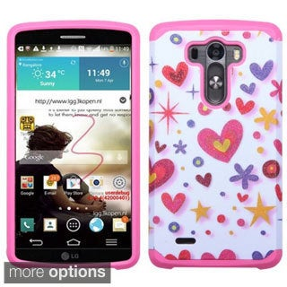 Insten Design Pattern Armor Hard PC/ Silicone Dual Layer Hybrid Rubberized Matte Phone Case Cover For LG G3