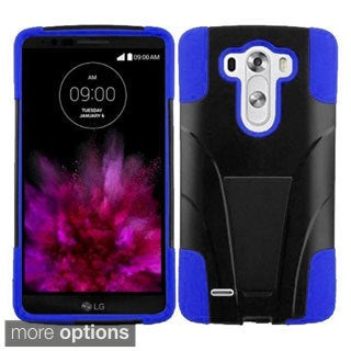 Insten Hard PC/ Silicone Dual Layer Hybrid Phone Case Cover with Stand For LG G4