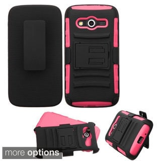 Insten Hard PC/ Silicone Dual Layer Hybrid Phone Case Cover with Holster For Samsung Galaxy Avant