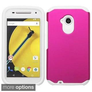Insten Hard PC/ Silicone Dual Layer Hybrid Rubberized Matte Phone Case Cover For Motorola Moto E 2nd Gen