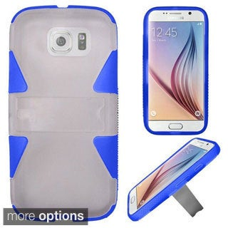Insten Hard PC/ Silicone Dual Layer Hybrid Rubberized Matte Phone Case Cover with Stand For Samsung Galaxy S6