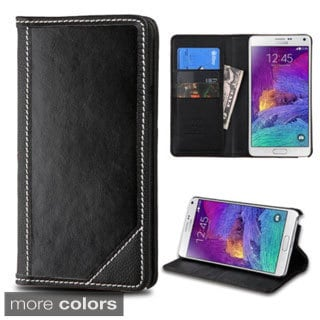 Insten Leather Wallet Flap Pouch Phone Case Cover with Stand For Samsung Galaxy Note 4