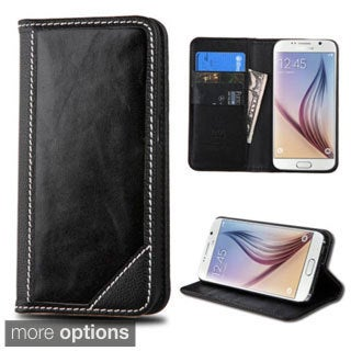 Insten Leather Wallet Flap Pouch Phone Case Cover with Stand For Samsung Galaxy S6
