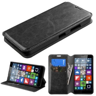 Insten Leather Wallet Flap Pouch Phone Case Cover with Stand For Microsoft Lumia 640