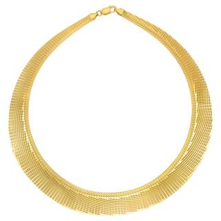 18k Gold Overlay 17-inch Cleopatra Collar