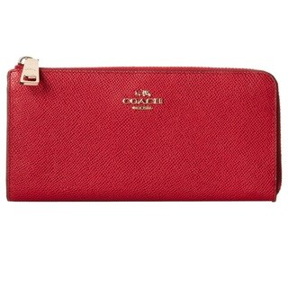 Coach Embossed Leather L-Zippy Wallet