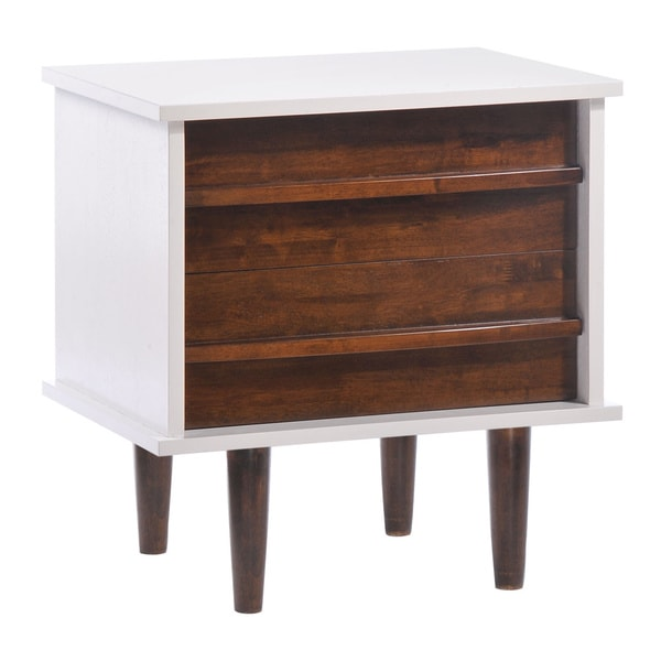 Seattle Walnut/ White Night Stand