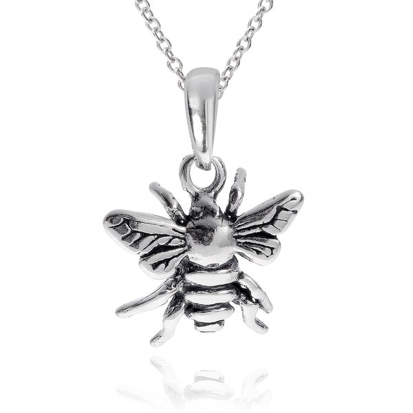 Journee Collection Sterling Silver Bee Pendant