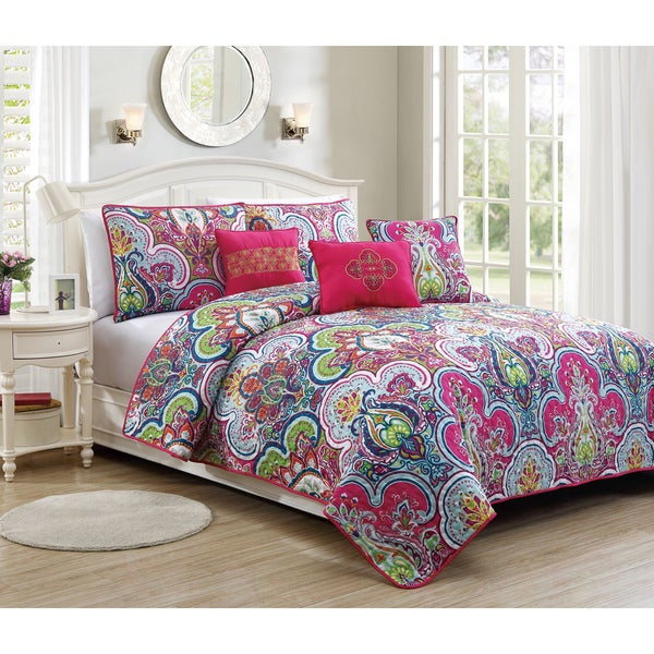Avondale Manor Chester Printed Transitional 6-piece Quilt Set
