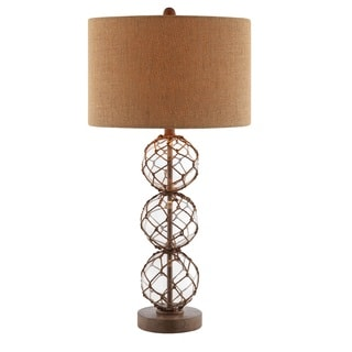 Breeze Nautical Rope Base and Burlap Table Lamp