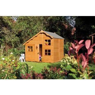English Garden Swiss Chalet Wood Playhouse
