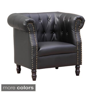 Chester Tufted Bonded Leather Chair