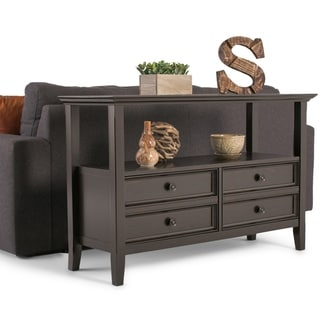 WYNDENHALL Halifax SOLID WOOD 48 inch Wide Transitional Console Sofa Table - 48 inch wide