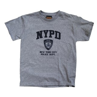 NYPD Kids Grey Navy Print Tee