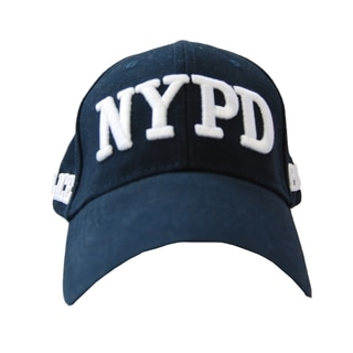 Adult NYPD Navy White Embroidered Hat