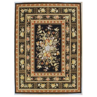 Orchid Hand Hooked Oriental Rug (5'9'' x 8'9'')
