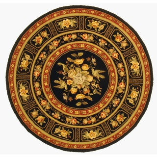 Orchid Hand Hooked Round Rug