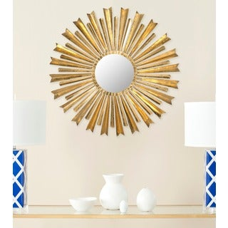 Golden Arrows Sunburst Antique Gold Mirror