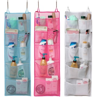 Convenient 8-pocket Overdoor Hanging Mesh Shower Tote (11.8 inches x 38.6 inches)