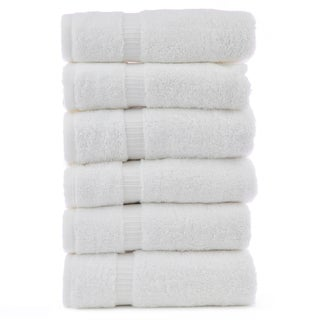 Luxury Hotel & Spa Turkish Cotton Dobby Hand Towels (Set of 6)