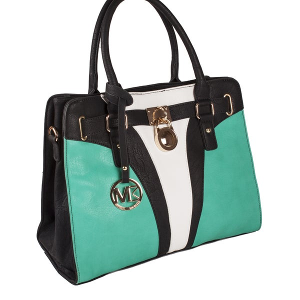 Michael Michelle 'Yasmin' Color Block Satchel Bag