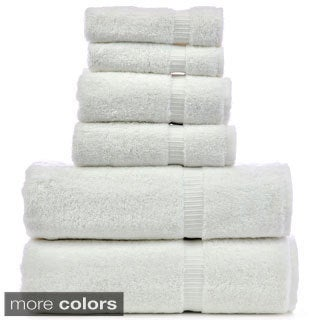 Luxury Hotel & Spa 6-piece Turkish Cotton Dobby Bath Towel Set