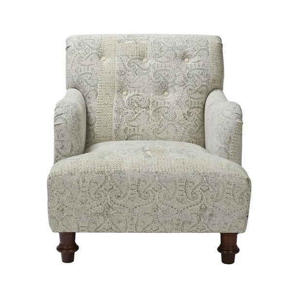 Jennifer Taylor Off-white Stone-washed Sage Arm Chair