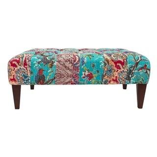 Jennifer Taylor Blanca Multicolor Upholstered Bench