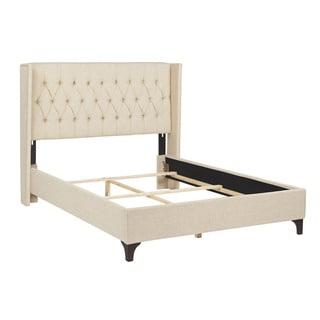 Jennifer Taylor King/ Queen Tan Upholstered Bed Set