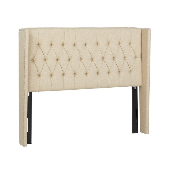 Jennifer Taylor Tan Tufted Annabell Upholstered Headboard