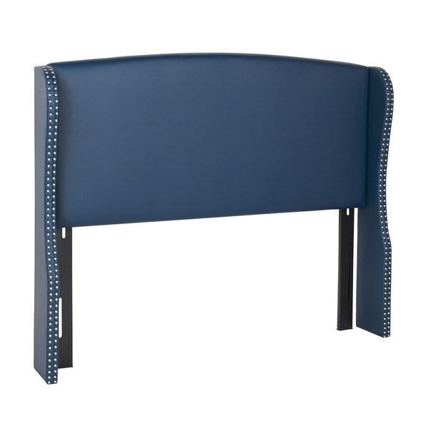 Jennifer Taylor Navy Blue Upholstered Headboard