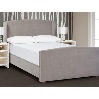 Jennifer Taylor Queen Tan/ Grey Upholstered Bed