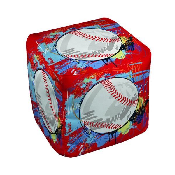 Thumbprintz Baseball Homerun Pouf