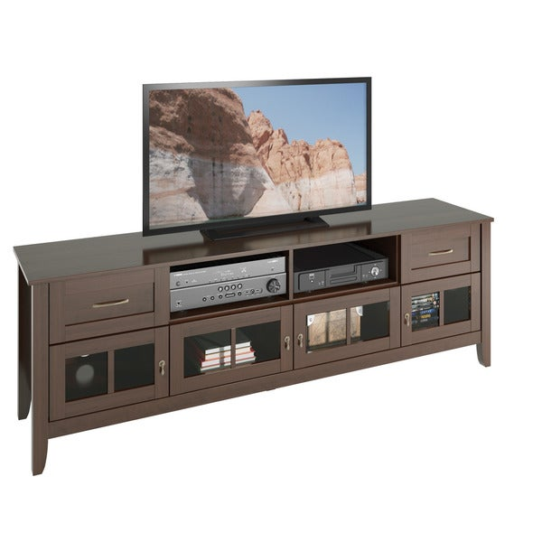 Corliving Teh  B Carlisle Extra Wide Espresso Tv Bench Up To