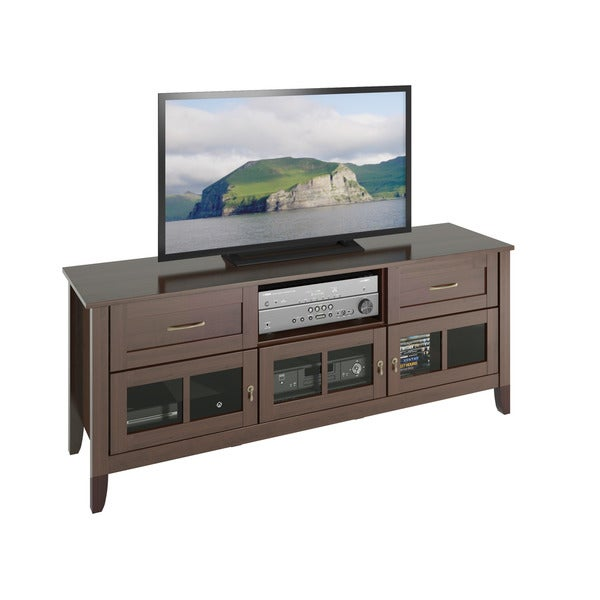 CorLiving TEH-698-B Carlisle Extra Wide Espresso TV Bench (Up to 80 inches)
