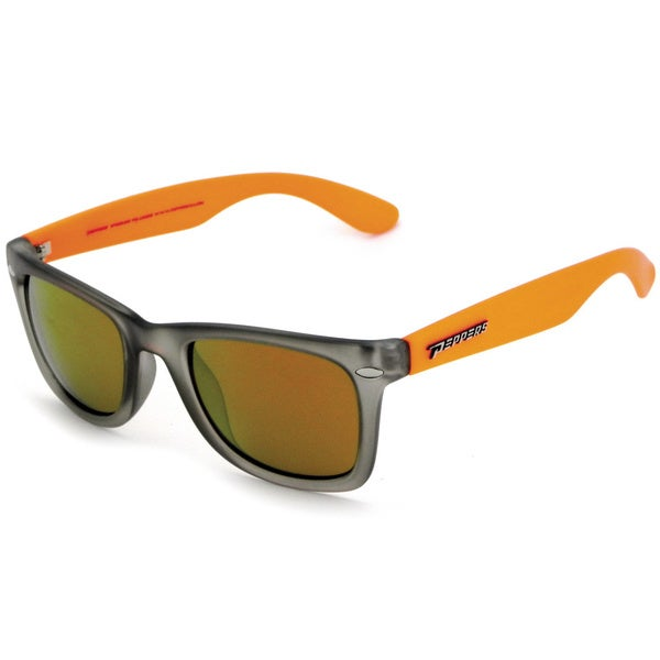 Pepper's Grey/ Orange Polarized Mirrored Sunglasses