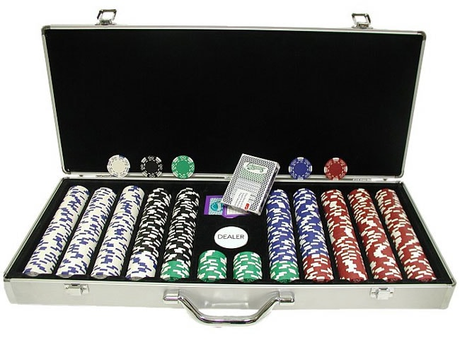Royal Suited 650-piece Poker Chip Set with Aluminum Carrying Case