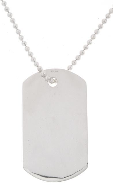 Sterling Essentials Sterling Silver 30-inch Dog Tag Necklace (Benefitting WWP)